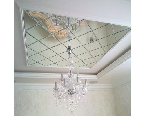 Зеркальное панно на потолок в классическом стиле