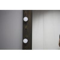 Большое черное гримерное зеркало с подсветкой