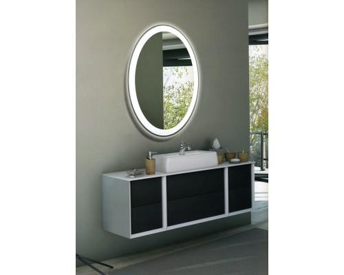 Овальное зеркало в ванную комнату с подсветкой Гармония